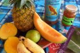 quelques fruits, de la confiture bokay...