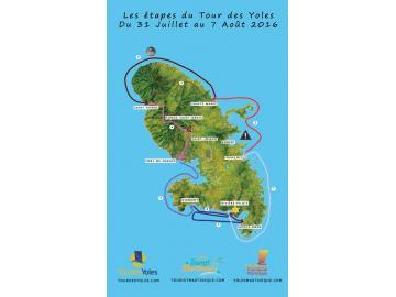 Les étapes du Tour des yoles 2016
