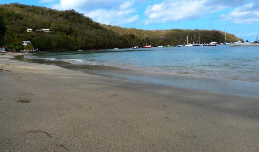 Plage de Grande Anse d'Arlet. Préparez vos masques et tubas, vous serrez au paradis en compagnie des tortues de mer.