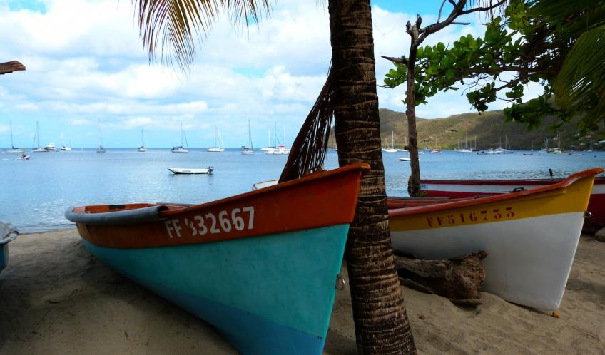 Les yoles. embarcations traditionnelles destinées à la pêche. Vous n'en verrez qu'en Martinique.