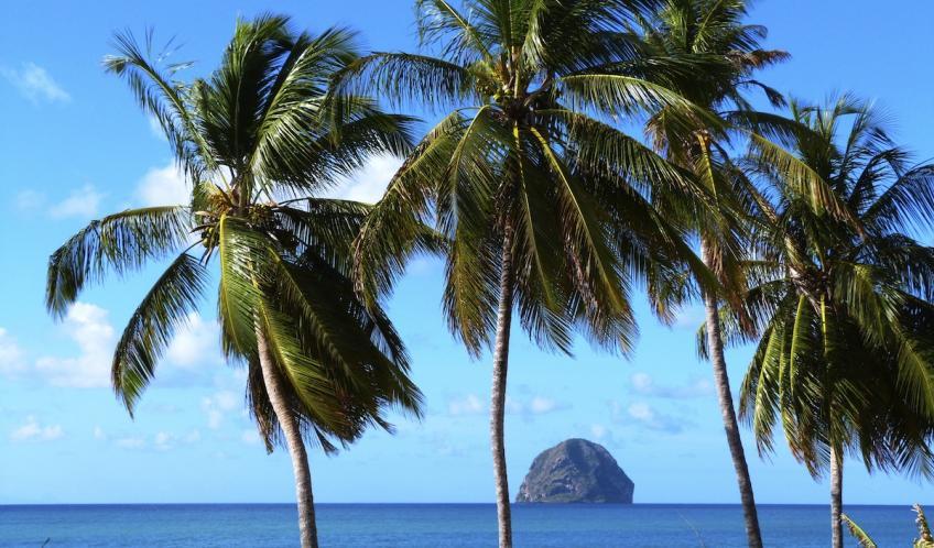 Vue prise à 100 mètres de votre location de vacances L'Oasis de L'Anse bleue.